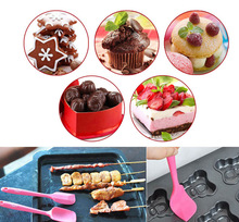Buy 1PCS Silicone Baking Tool Cake Butter Spatula Mixing Batter Scraper Color Random TB Sale for $1.17 in AliExpress store