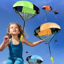 hot sale Hand Throwing kids mini play parachute toy soldier Outdoor sports Children's Educational Toys
