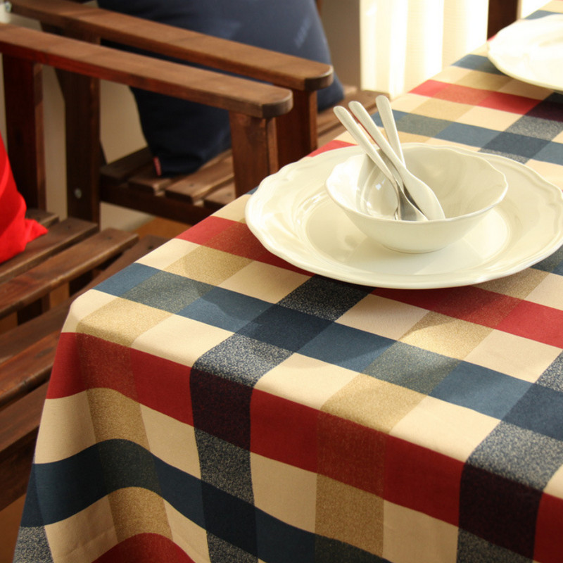 2015 New Classic Style Hot Cotton Linen Round Table Cloth High Quality Tablecloth Mantele Plaid Table Cover Nappe Toalha De Mesa(China (Mainland))