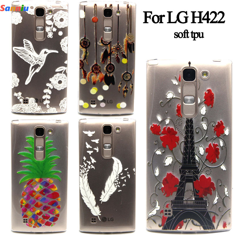 Sanniu Slim Ultra Thin Transparent Dream Catcher Pattern TPU Back Phone Cover Case For LG LG Spirit H422 coque funda For LG H422(China (Mainland))