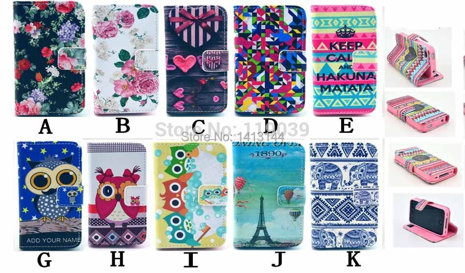 Samsung Galaxy ACE 2 i8160 Case Multiple Colorful Flower Blue White Owl valuable Luxury Leather Phone Cases Cover Skin - Bags World store