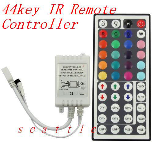 Dream color 3528 5050 RGB LED controller 44 key IR Remote Control for RGB LED strip, Free shipping(China (Mainland))