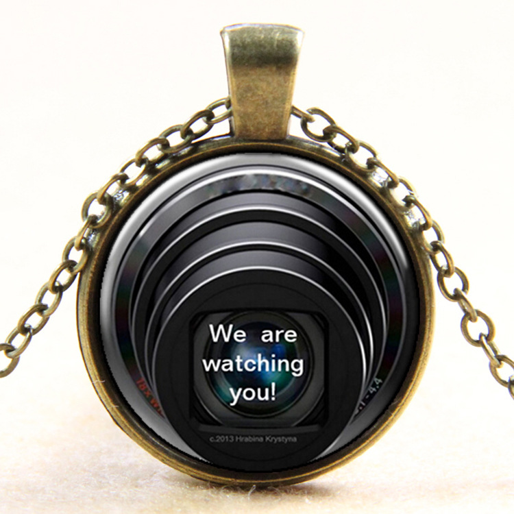2PCS Lens World Europe and the newest retro necklace manufacturers selling time gem aliexpress best selling Y120(China (Mainland))