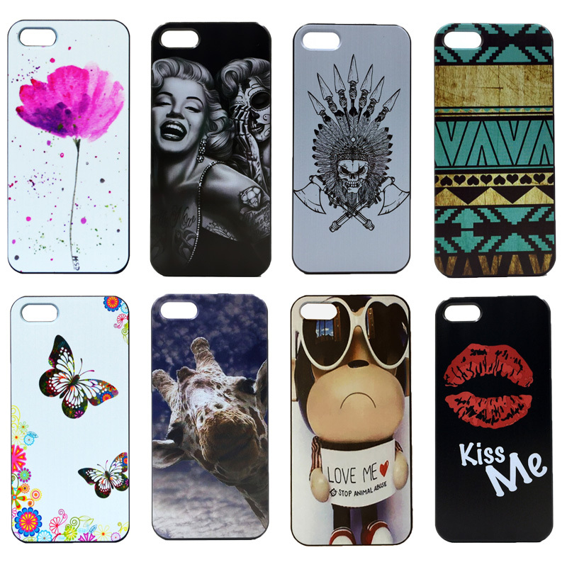 2015 Hot New Arrival Logo Animal Pictures New Brand Skin Custom High Quality Hard Plastic Cover For Apple 4 4S Case(China (Mainland))