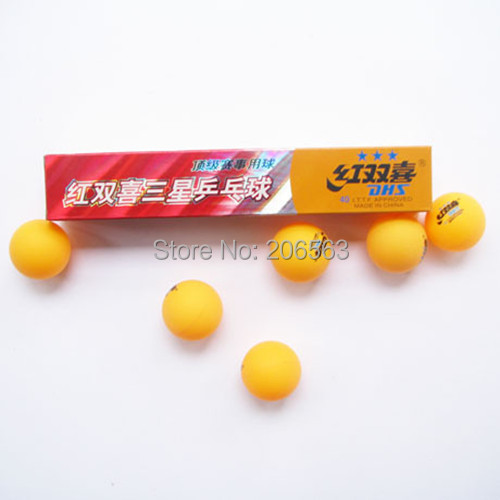5 Boxes (30 Pcs) 3 Stars DHS 40MM Olympic Table Tennis Orange Ping Pong Balls Good - zhenshuo yu's store