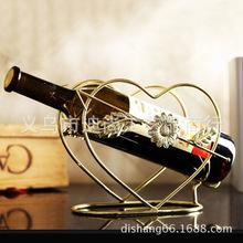 Love type iron wine rack wine rack wine prop golden bronze rose gold