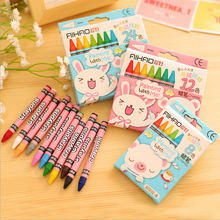 B22 1 Box Colored Kid Baby Pastel Drawing Wax Color Pencils for Drawing Stationery Kids Gift