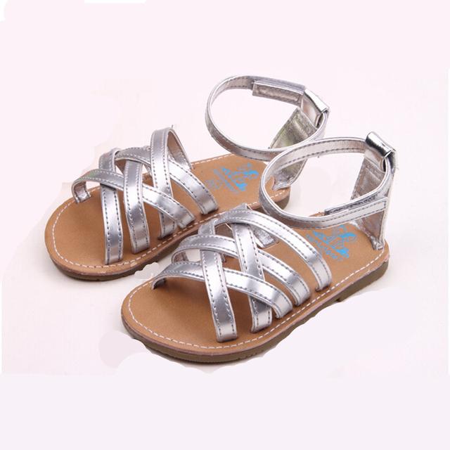 2015 летом прохладно детская обувь сандалии антискользящий пу открытый обувь малыша ...