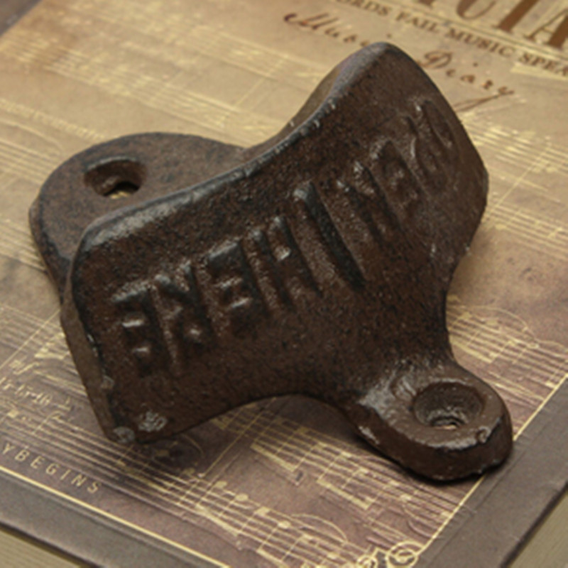 Vintage Cast Iron Wall Mounted Bottle Opener Beer Kitchen Accessories(China (Mainland))