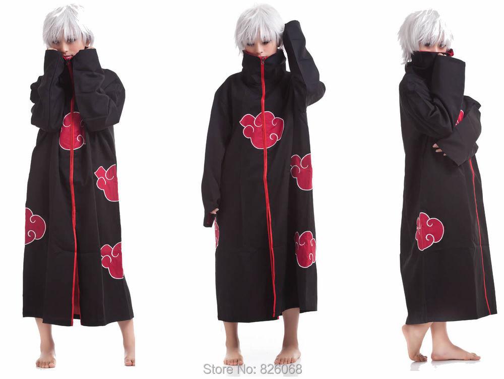 Naruto cloak Akatsuki Cosplay Orochimaru uchiha madara Sasuke itachi cloak clothes Free Shipping(China (Mainland))