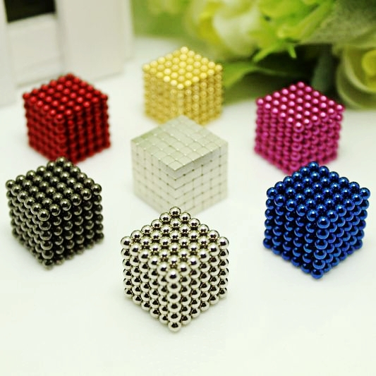 216pcs 3mm neodymium magnetic balls spheres beads magic cube magnets puzzle birthday present for children - vacuum package.(China (Mainland))