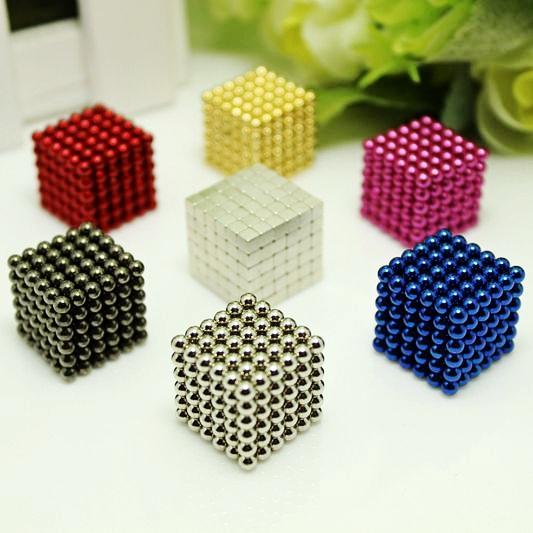 216pcs 3mm neodymium magnetic balls spheres beads magic cube magnets puzzle birthday present for children - vacuum package.(China (Mainland))