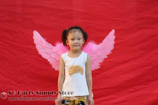Baby'Special Birthday Childrens Day gift fairy angel feather wings Flower girl unique props Wholesale Free shipping(China (Mainland))