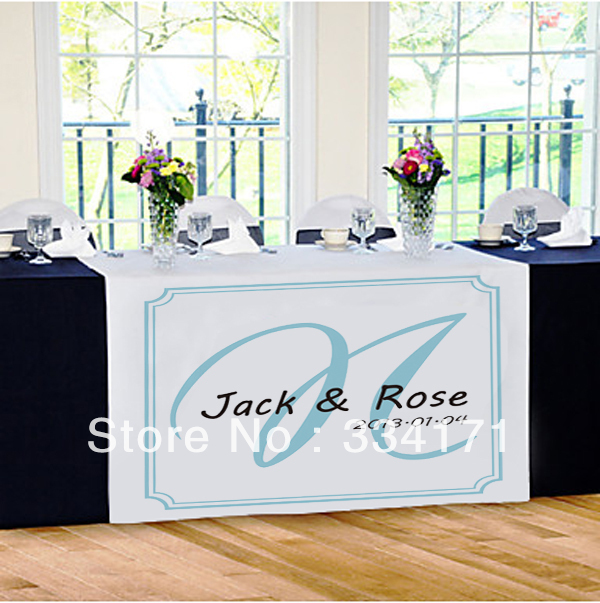 new arrival Personalized wedding reception table runner Marriage day(China (Mainland))