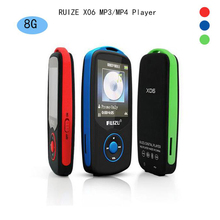 2016 New Original RUIZU X06 Bluetooth Sports MP3 music Player 8GB with 1.8Inch Screen 100hours high quality lossless Recorder FM(China (Mainland))