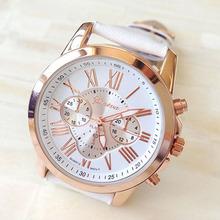 Rosonse New Women s Fashion Faux Leather Roman NumeralsAnalog Quartz Wrist Watch Freeshipping Wholesale