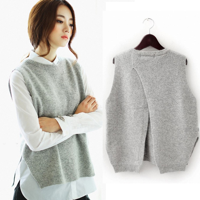 2015 весной широкий большие ярдов женский хеджирования свитер жилет шею шерстяной ...