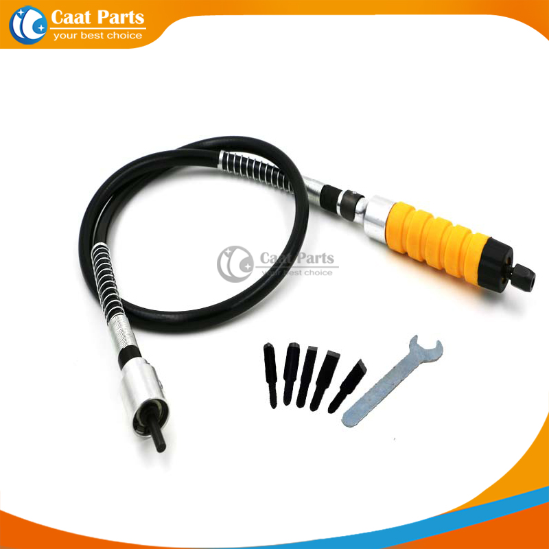 Electric furniture wood carving knife Flexible Shaft electric chisel 5 Carving knife and small spanner Electric