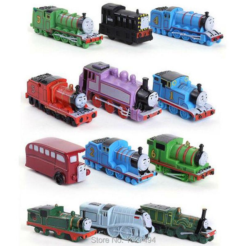 12pcs/set Thomas and Friends Trains Trackmaster Engine Plastic Toy Gift Kids Toys for Boys Children Mini Locomotive Models(China (Mainland))