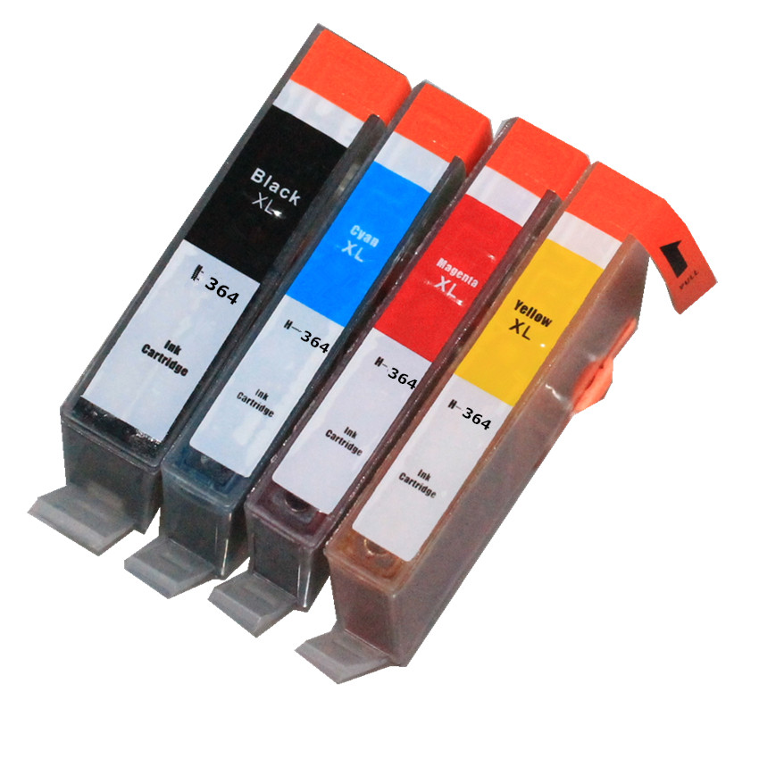 4 ink 364 364XL ink cartridge with chip For hp Photosmart 7510 7515 7520 B010a B110a B110c B110e B111a B109a B109d B109f B109n(China (Mainland))