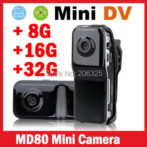 crazy Price!MD80+Bracket+Clip,Black Sports Video Camera Mini DVR Camera & Mini DV,wholesales md80 sports camera,md80 mini dv dvr(China (Mainland))