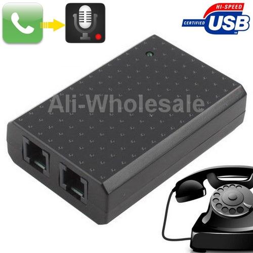 Mini PC USB VoIP Telephone Call Recorder Vonage Cable Digital Phone Voice Activated(China (Mainland))