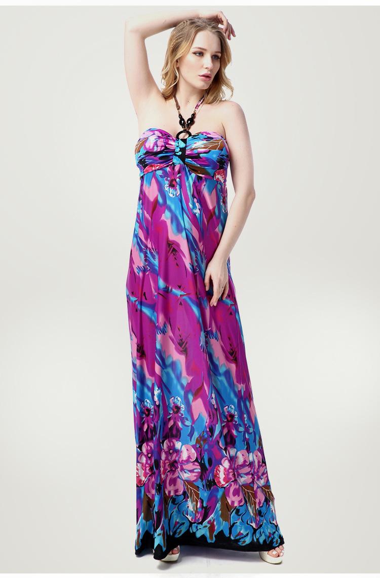 Вискозные длинные платья