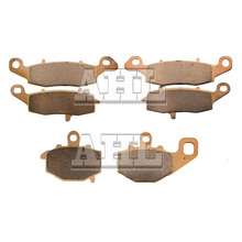 Motorcycle Parts Copper Based Sintered Motor Front & Rear Brake Pads For Kawasaki EX650 EX 650 Ninja 650 2006-2008 Brake Disk