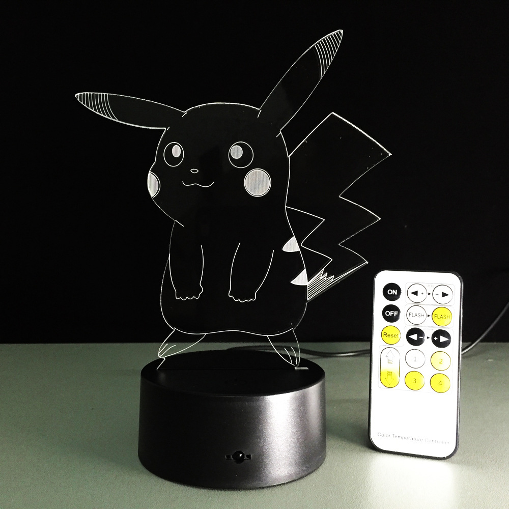 USB RGB лампа в виде Пикачу с сенсорным затемнением 3D ночной Светильник IMG_2176