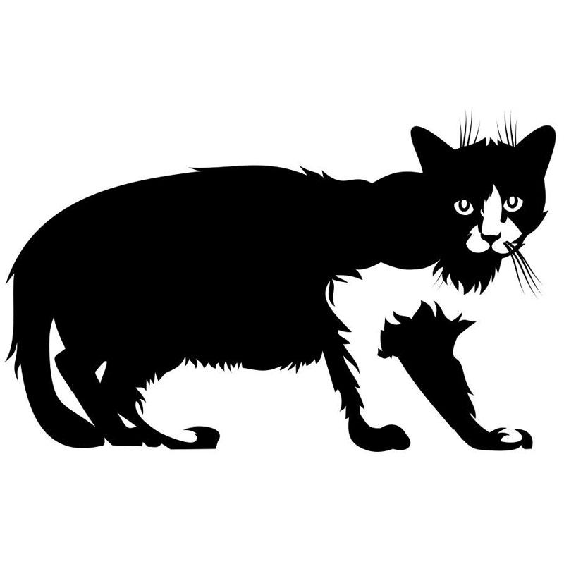 15.5*9.7CM Pet Cat Car Cover Scratch Stickers Decals Classic Window Glass Decoration Accessories C6-0339(China (Mainland))