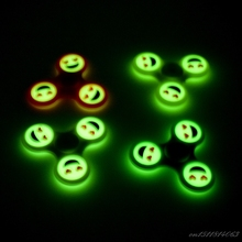 Buy Fidget Spinner Luminous Smile Emoji EDC Finger Spinner Plastic Hand Spinner Finger Glow Dark Autism ADHD Anti Stress for $1.50 in AliExpress store