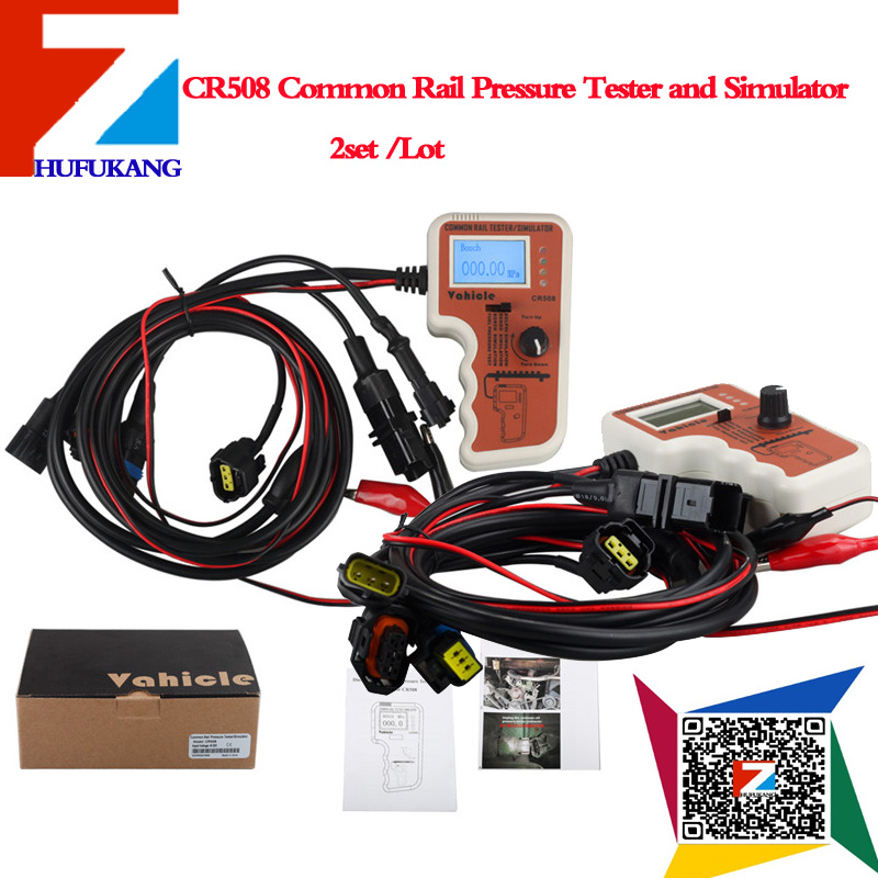 2 pcs/ lot New CR508 Common Rail Pressure Tester and Simulator by Rail Pressure Tester for most cars CR508 Diesel Engine(China (Mainland))