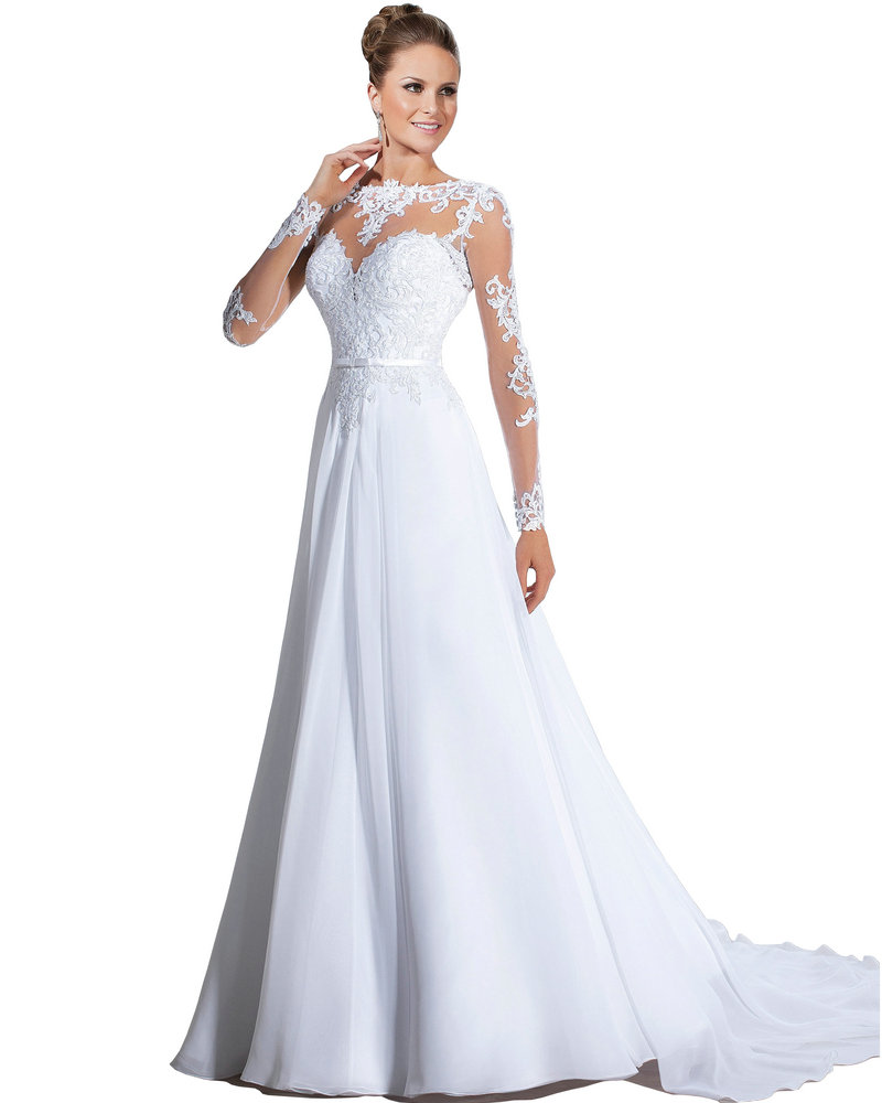Best wedding cheap bridal gowns with sleeves for Cheap wedding dress with sleeves