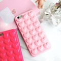New Arrival Ultrathin Soft TPU Case For Iphone 6 6plus Peach Heart Jelly Phone Case Peach