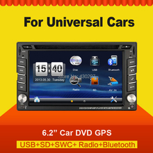 2015 New Arrive Universal car video radio Monitors 2 din car dvd players GPS Navigation In-dash car pc TV Bluetooth Free map(China (Mainland))