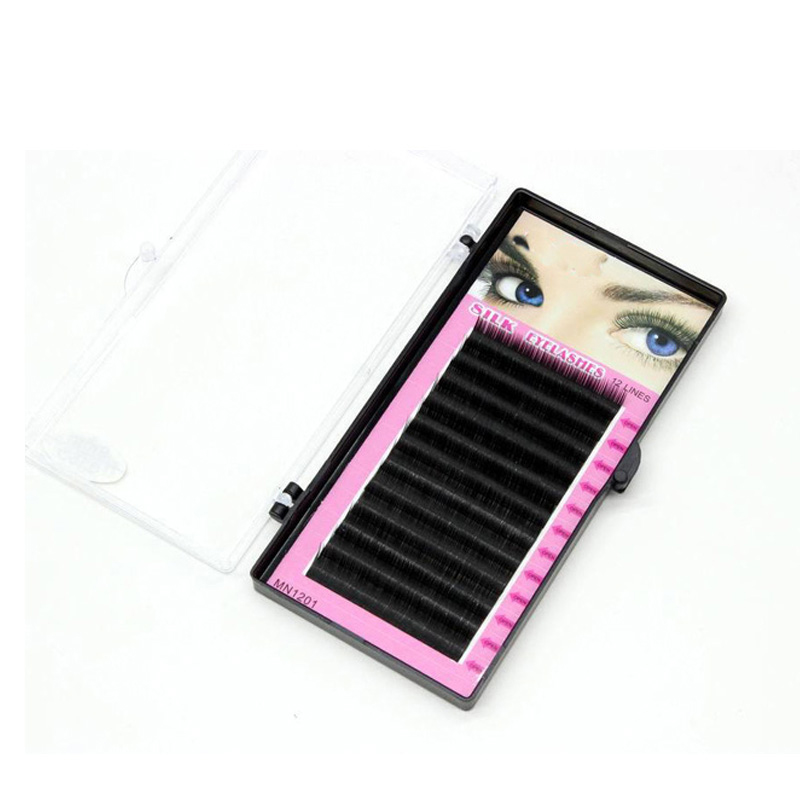 Make-up Individual False Eyelashes Black Color False Lashes Natural Long Eyelashes Cluster Eyelash Extension Size 8/10/12/14mm(China (Mainland))
