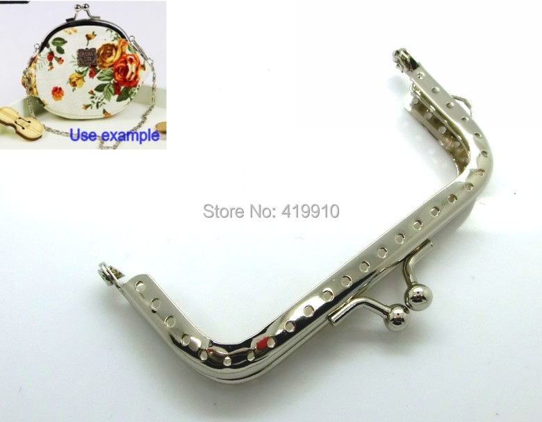 Free Shipping-5pcs Silver Tone Metal Frame Kiss Clasp For Purse Bag 8.9x5.2cm(Can Open Size:9.7x8.9cm) M01144<br><br>Aliexpress