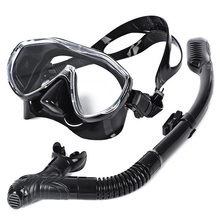 WHALE Safe Professional Scuba Diving Silicone Mask Snorkel Durable Wear Resistant  Diving Mask Set Soft Comfortable(China (Mainland))