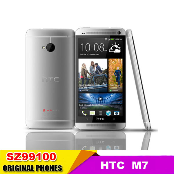 M7 Original HTC One M7 GPS WIFI 3G 4.7''TouchScreen 32GB mobile phone Quad core multilingual Good quality refurbished(China (Mainland))