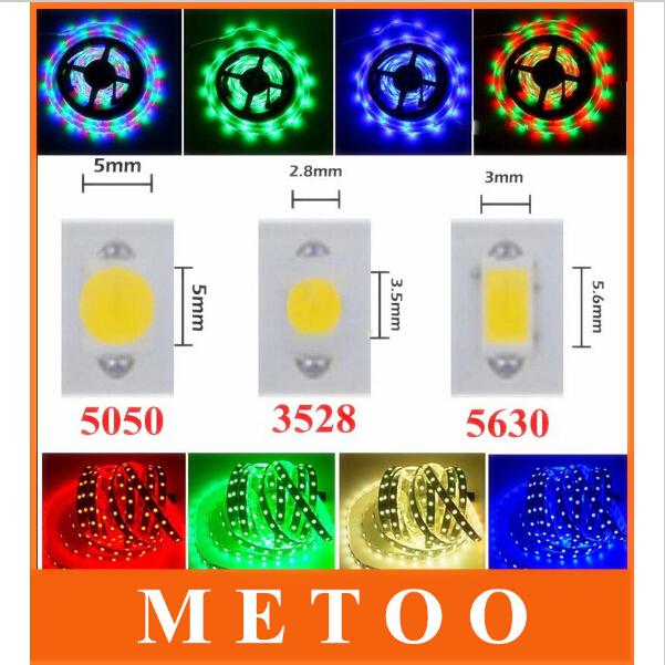 5M 300 Leds RGB Led Strip Light 3528 5050 3014 5630 SMD Flexible Light Led Tape DC12V 60Leds/M Non-Waterproof String Ribbon(China (Mainland))