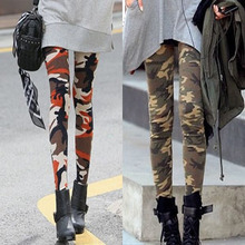 2015 New Personalized Army Camouflage women Leggings summer style Fashion sport legging Hot sell free shipping