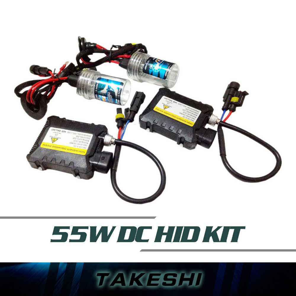 Free Shipping 55W DC HID Xenon Kit Car Headlight Auto lamp Slim Ballast H1 H3 H7 H8 H9 H10 H11 9005 9006 ALL COLOR 3000K~30000K(China (Mainland))