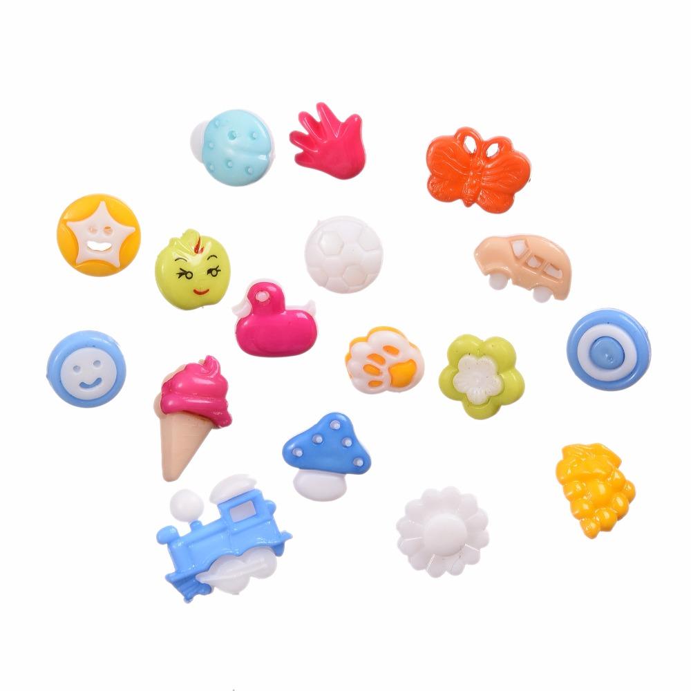 Fashion Popular! 100pcs Mixed Kawaii Plastic Cartoon Animals Novelty Shank Sewing Accessories Buttons Variety Styles(China (Mainland))