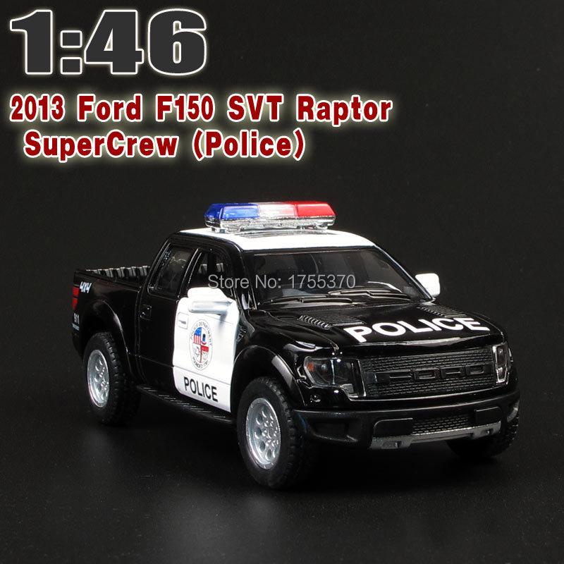 "5"" DieCast Metallic 2013 Ford F150 SVT Raptor SuperCrew Police Kids Schooling Alloy Mannequin Toy Vehicles Reward For Children"