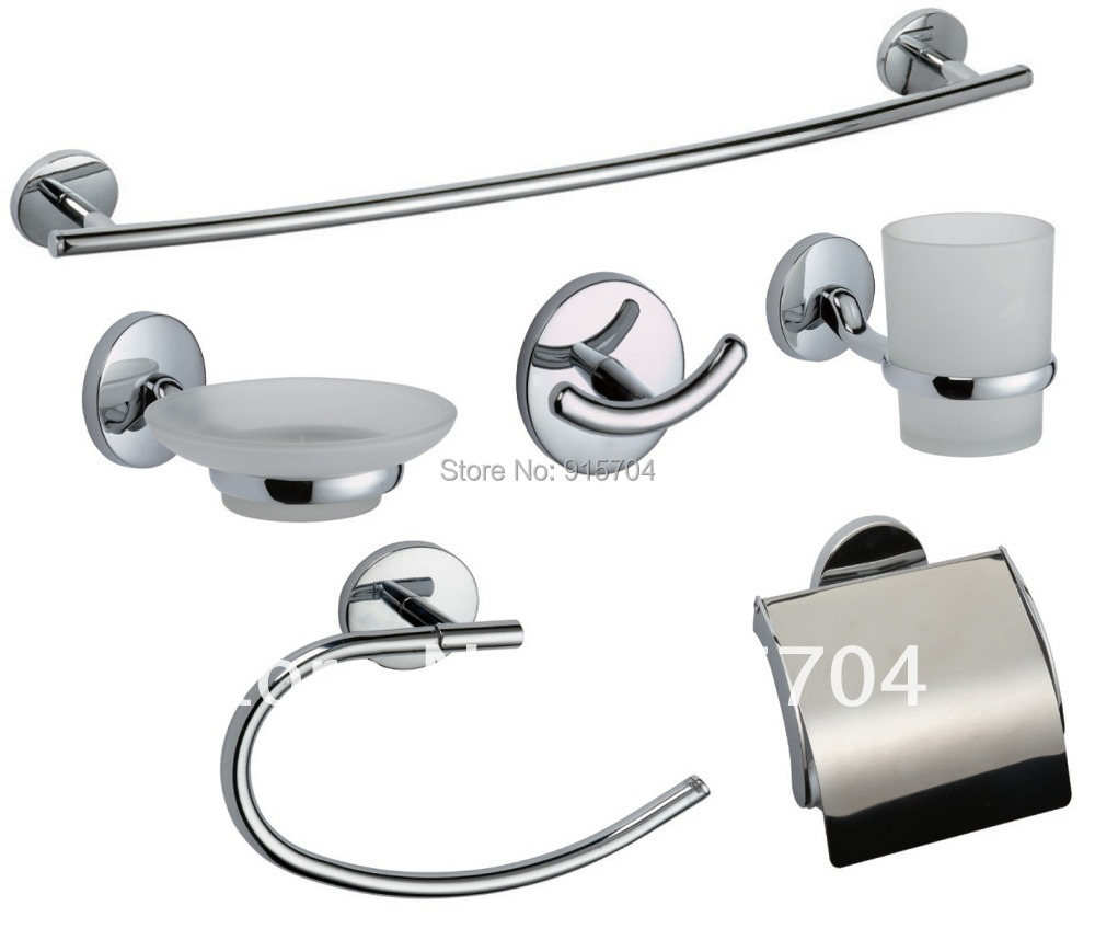 Beautiful Contemporary Bathroom Hardware Set Bath Accessories Towel Bar Ring