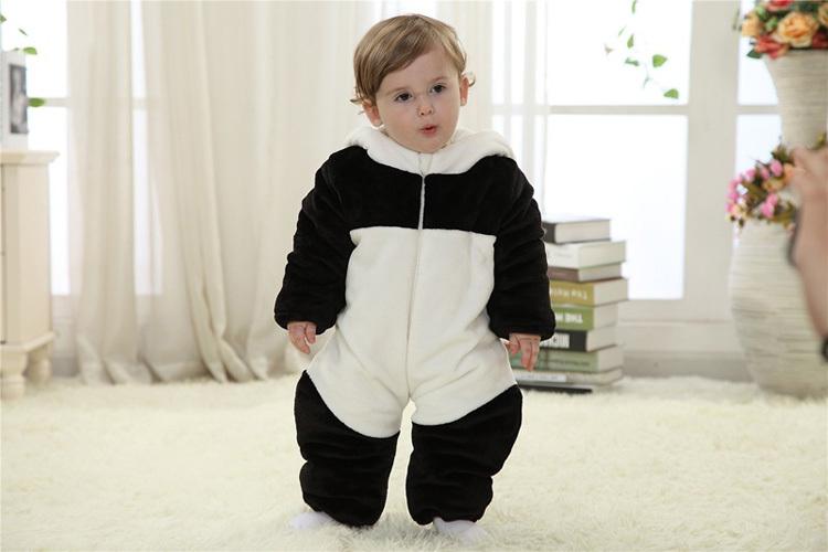 Скидки на Младенцы фотография форма животного детские комбинезоны одежда для зима