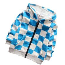 2016 New Spring Kids Clothes Boys Hoodies Velvet Children Clothing Boy Sweatshirt Baby Coats and Jackets Hooded Plaid(China (Mainland))