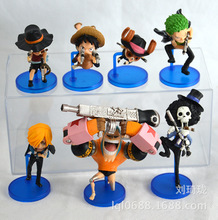 7pcs Zoro Frank Luffy Brook Chopper Usopp Sanji One Piece Anime Collectible Action Figure PVC Collection toys Men christmas gift