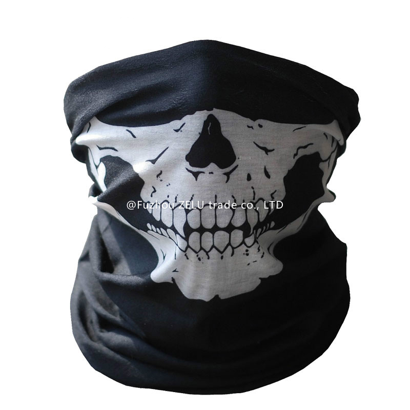 Halloween Cosplay Bicycle Ski Skull Mask Half Face Mask Ghost Scarf Neck Warmer skull Party Mask Motorcycle Mask 5ZJS075(China (Mainland))
