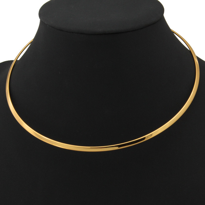 18K Real Gold/Platinum Plated 2 Colors Fashion Jewelry Wholesale 2014 New Trendy Necklace For Women 2 Colors Round Torques N632